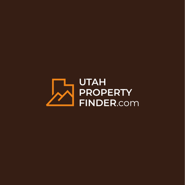 Utah logo with the title 'Lineart logo for real estate company: Utah Property Finder'