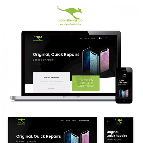 Computer website with the title 'Website Design'