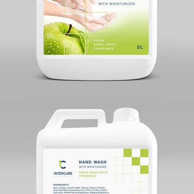 Fresh Green Apple Hand Wash Label design