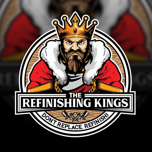 King design with the title 'KING CARTOON CHARACTER VECTOR LOGO'