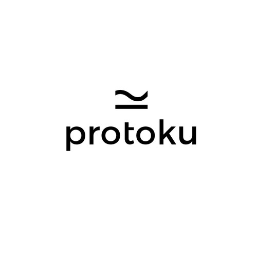 Abstract art logo with the title 'Protoku Abstract Design'