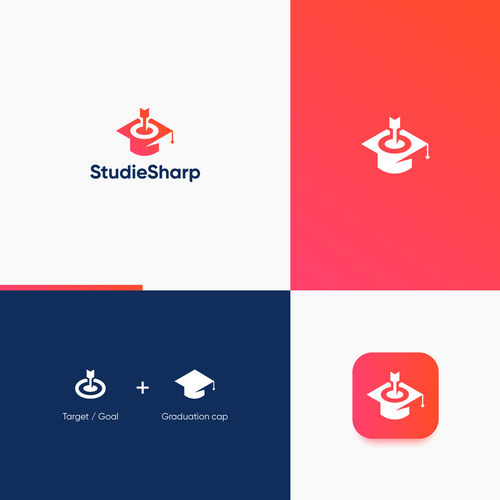 Goal logo with the title 'Sophisticate yet Modern Logo concept for StudieSharp'