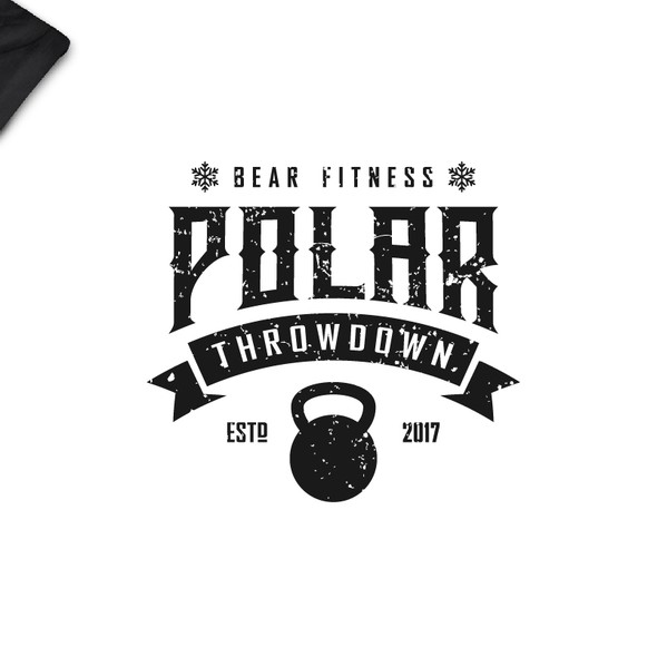 Stamp t-shirt with the title 'Bear Fitness'