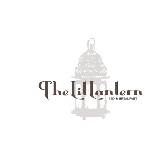 Lantern design with the title 'Logo Design for The Lit Lantern Bed and Breakfast'