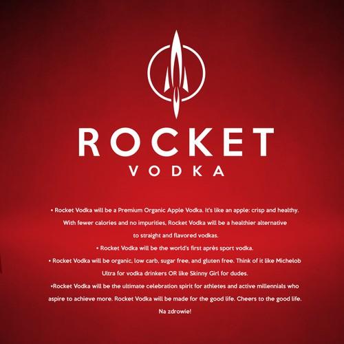 Rocket design with the title 'Vodka logo design'