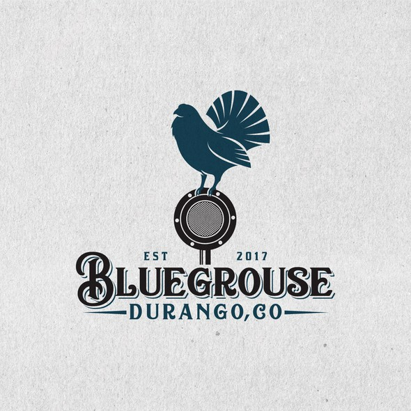Instrument design with the title 'Design a Logo for a Bluegrass Band from Durango Colorado'