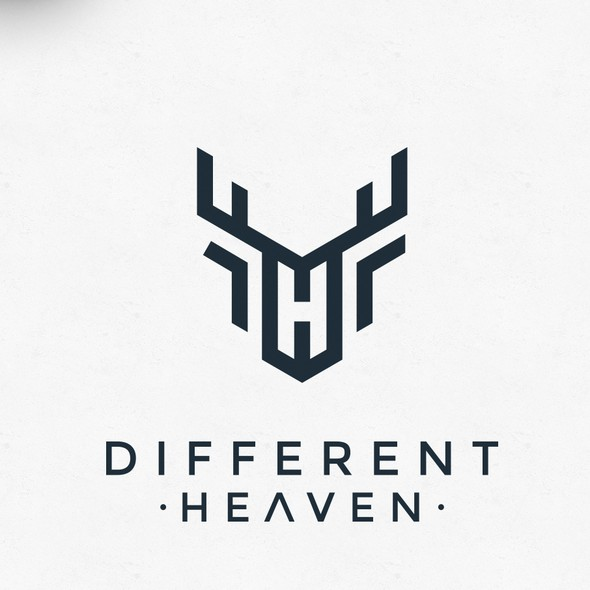 Heaven logo with the title 'Deer + H logo'