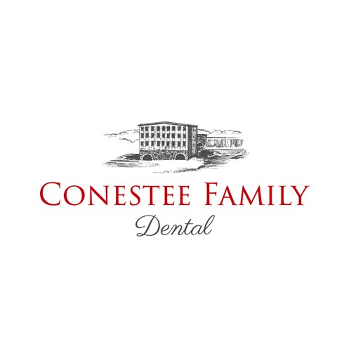 Mill logo with the title 'Conestee Family Dental'