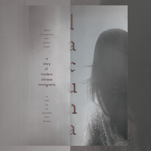 Movie design with the title 'Lacuna'
