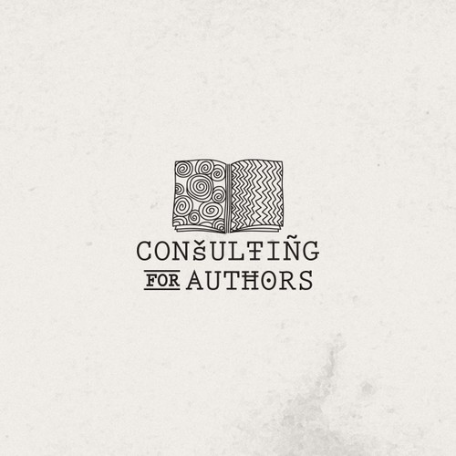 Old-school brand with the title 'Create a logo for digital marketing company: Consulting for Authors'
