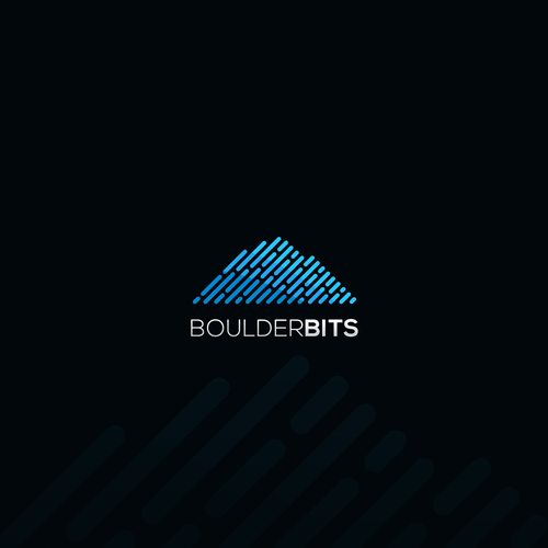 Monochromatic design with the title 'Innovative logo for BOULDER BITS'