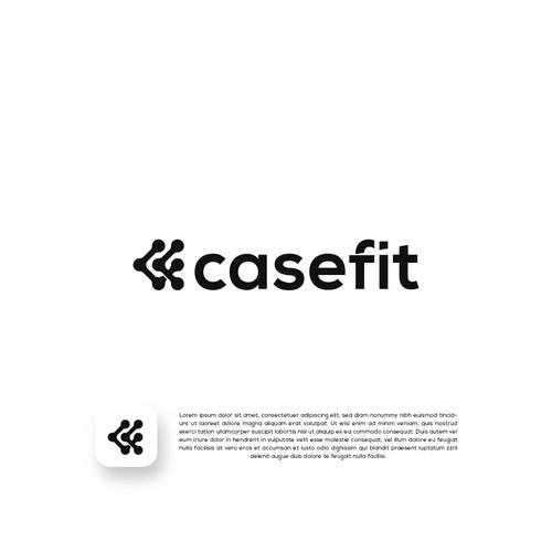 Mobile design with the title 'CASEFIT - CUSTOME MOBILE CASE LOGO DESIGN'