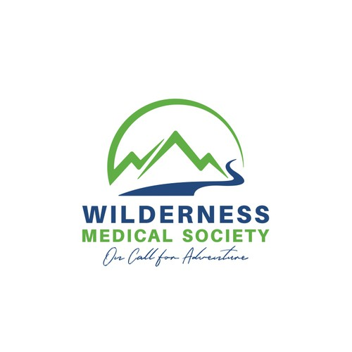 Wilderness logo with the title 'Wilderness Medical Society Logo Designs'