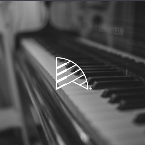 Piano keys design with the title 'DW Pianist \ Monogram'