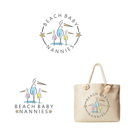 Beach logo with the title 'Beach Baby Nanny Logo'
