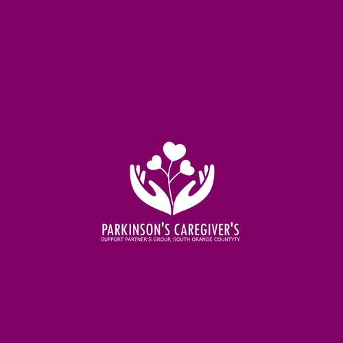 Black and purple logo with the title 'Logo to support caregivers'
