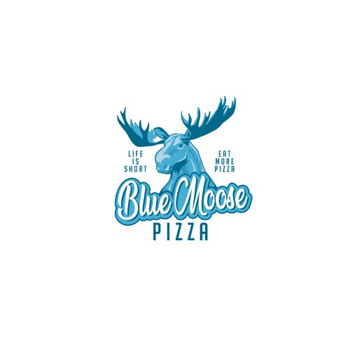 Moose design with the title 'Bold logo for pizzeria '