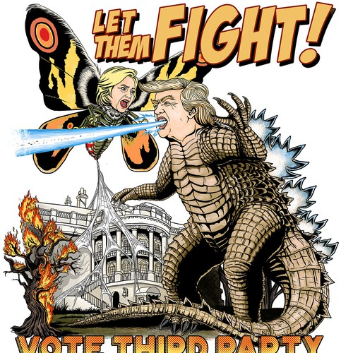 Trump t-shirt with the title 'Tee design for Trump vs Hillary'