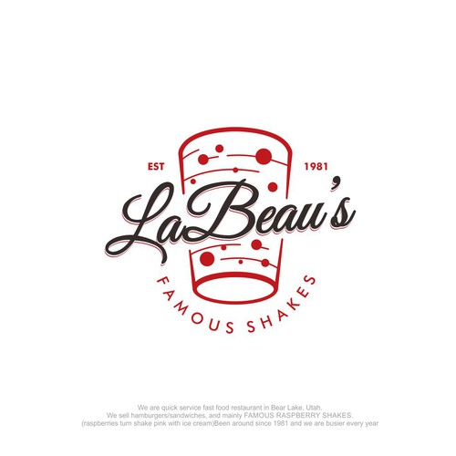 Shake logo with the title 'LaBeau's logo design'