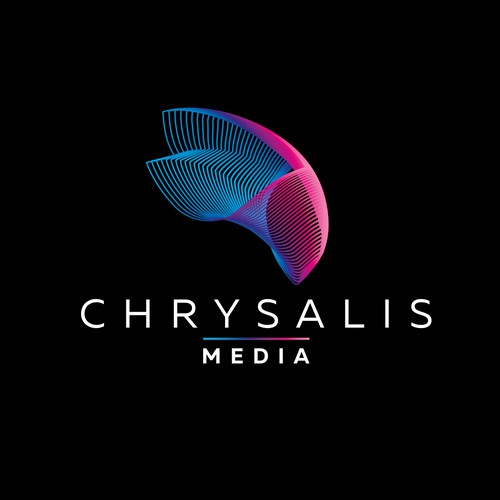 Cool brand with the title 'Logo and brand identity for Chrysalid Media'