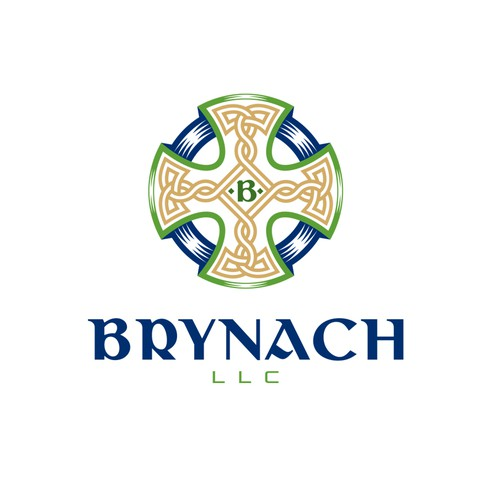 Cross design with the title 'Logo for Brynach'