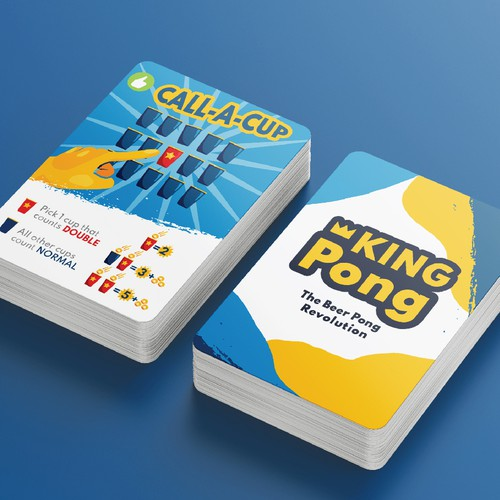 Presentation artwork with the title 'Playing Cards Design - King Pong'