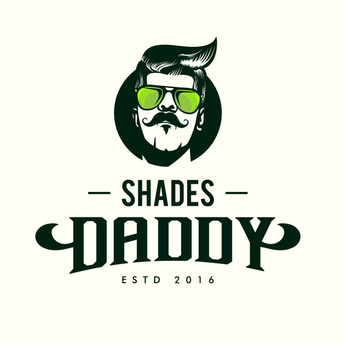 Sunglasses logo with the title 'Hip shades daddy'