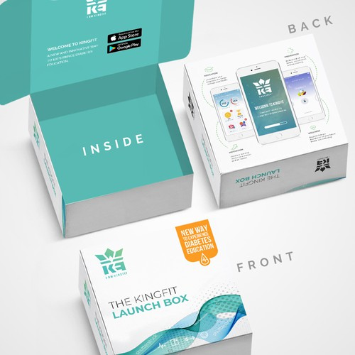 Medicine packaging with the title 'Package and Logo design'