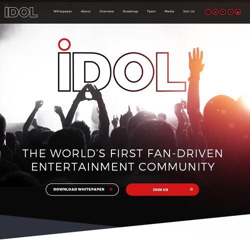 Modern website with the title 'The World's First Fan-Driven Entertainment Community'