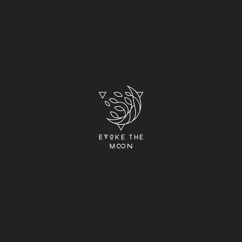 Moon design with the title 'Line art design for Evoke the Moon Logo design'