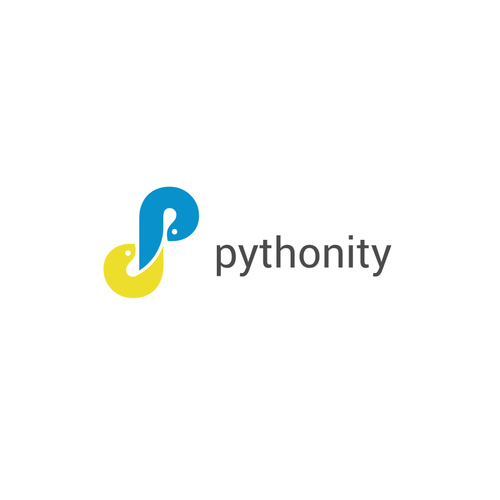 Techno logo with the title 'pythonity'