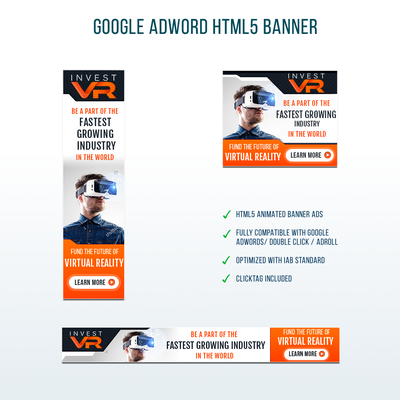 Interactive Virtual Reality Banner ads