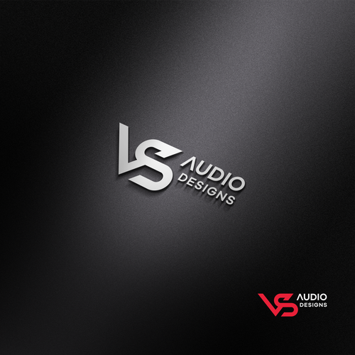 Initial logo with the title 'VS Audio Designs logo concept'