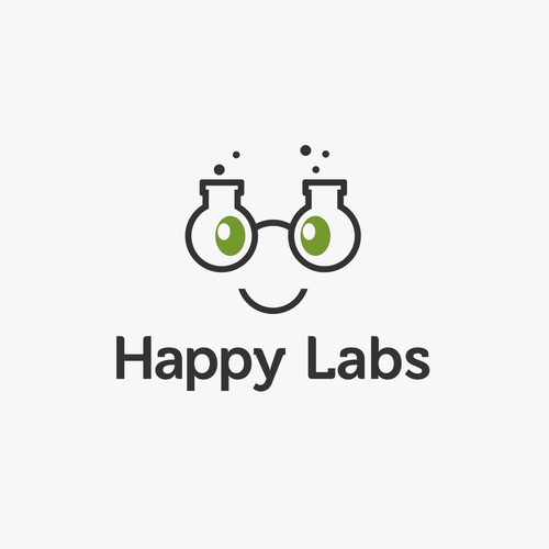 Laboratory logo with the title 'Happy Labs'