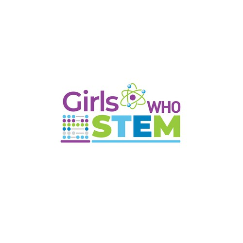 Mathematics logo with the title 'Logo Design for Educational Site on STEM (science technology engineering and math) for Girls'