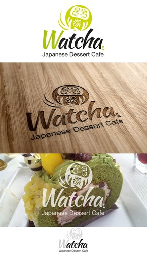 Green tea logo with the title 'Japanese Dessert Cafe'