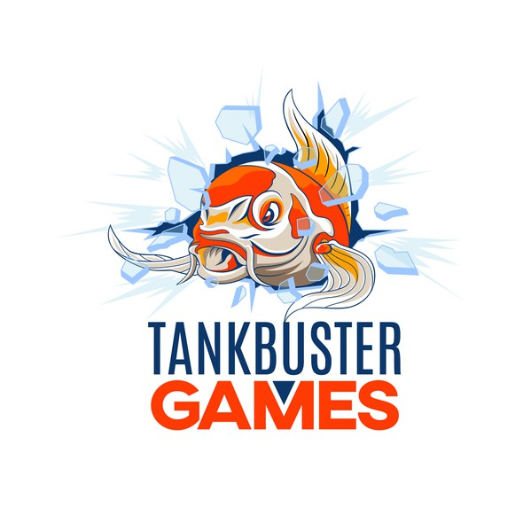 Koi fish logo with the title 'Logo for a Indie Game Studio'