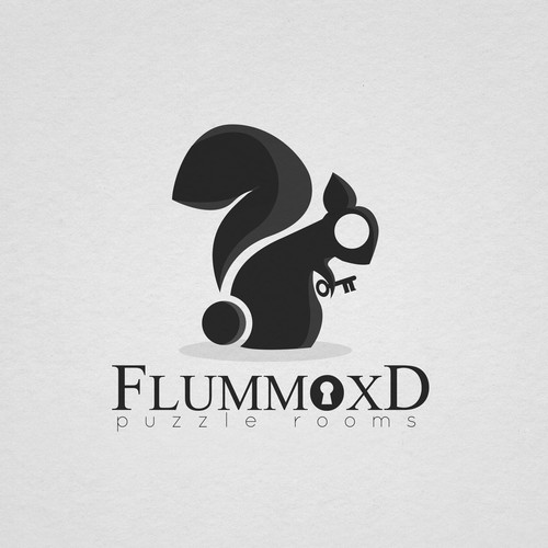 """Question mark logo with the title '""""Flummox'd"""" puzzle rooms entry'"""