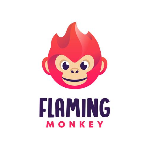 Monkey logo with the title 'Flaming Monkey'