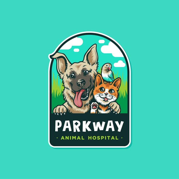 Hospital design with the title 'Fun Cartoony logo for Parkway Hospital'