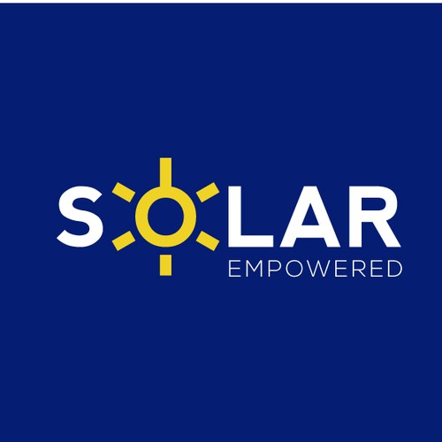 Solar energy logo with the title 'Solar Empowered'
