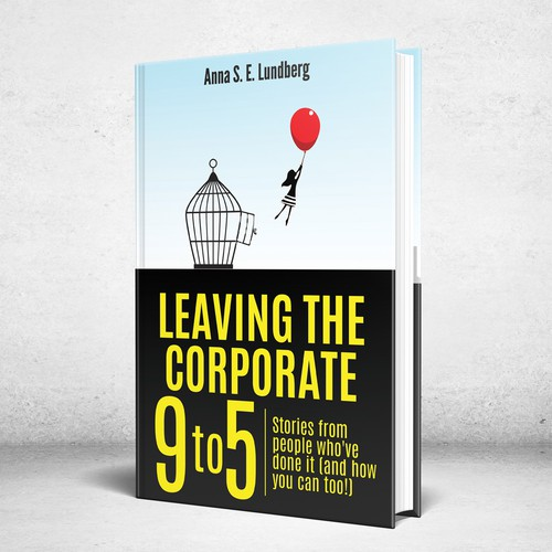 Leadership book cover with the title 'Design a book cover for Leaving the Corporate 9 to 5'