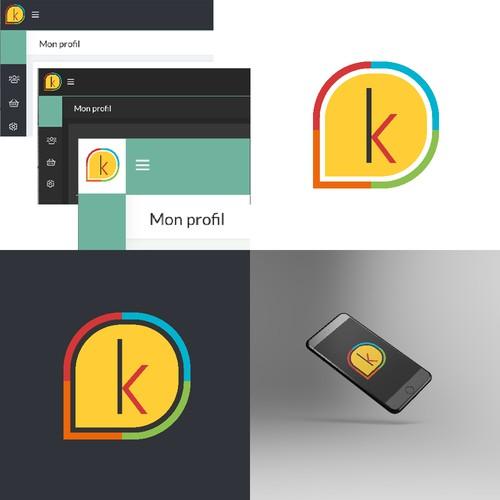 Responsive logo with the title 'Logo pour version mobile et favicon'