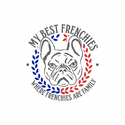 Kennel design with the title 'French Bulldog Kennel Logo'