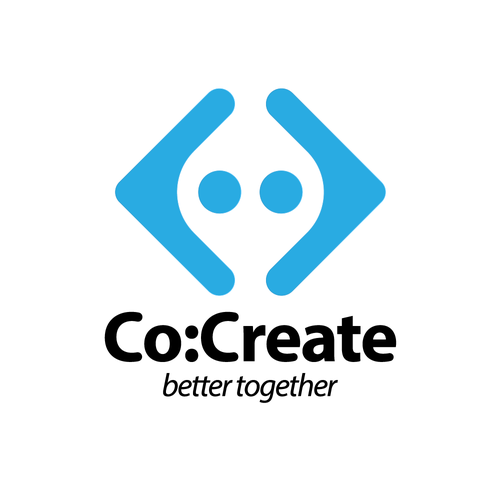 Collaboration logo with the title 'Logo - Co:Create'