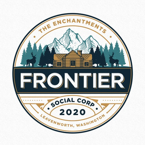 Tree logo with the title 'Frontier Social Corp'