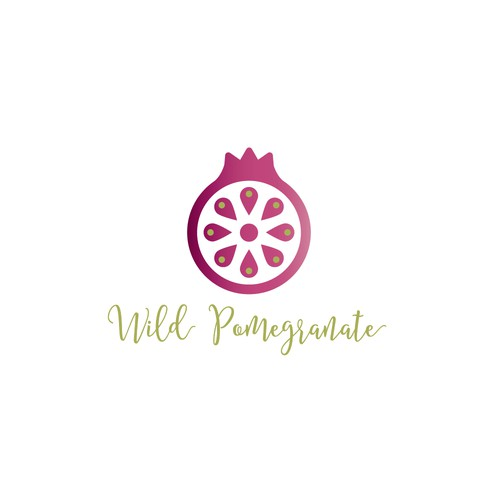 Pomegranate logo with the title 'Wild Pomegranate Logo Concept'