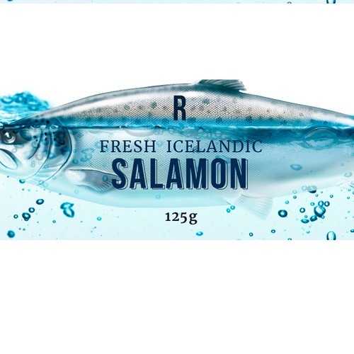 Fish packaging with the title 'Reykjavík Foods - New Icelandic brand for Icelandic food'