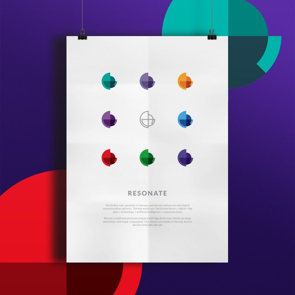 Overlay logo with the title 'Vivid and colorful logo for Resonate'