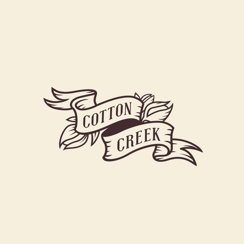 Creek logo with the title 'Cotton Creek Logo'